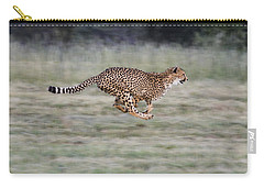 Running Cheetah In Namibia Carry-all Pouch by Suzi Eszterhas