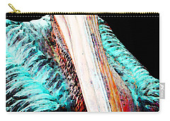 Rusty - Pelican Art Painting By Sharon Cummings Carry-all Pouch by Sharon Cummings