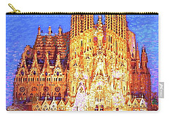 Sagrada Familia At Night Carry-all Pouch by Jane Small