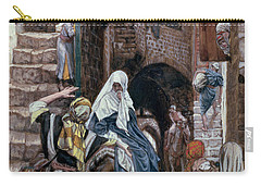 Saint Joseph Seeks Lodging In Bethlehem Carry-all Pouch by Tissot