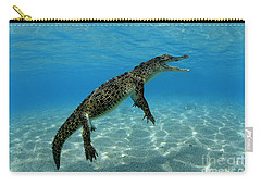 Saltwater Crocodile Carry-all Pouch by Franco Banfi and Photo Researchers