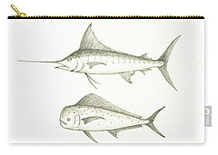 Saltwater Gamefishes Carry-all Pouch by Juan Bosco