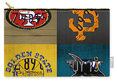 San Francisco Sports Fan Recycled Vintage California License Plate Art 49ers Giants Warriors Sharks Carry-all Pouch by Design Turnpike