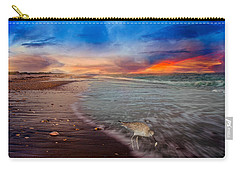 Sandpiper Sunrise Carry-all Pouch by Betsy Knapp