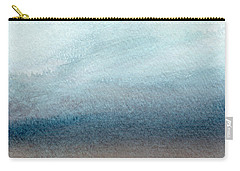 Sandy Shore- Art By Linda Woods Carry-all Pouch by Linda Woods