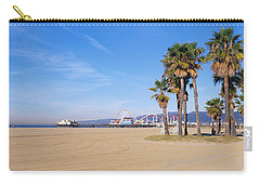 Santa Monica Beach Ca Carry-all Pouch by Panoramic Images