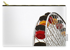Santa Monica Pier Ferris Wheel- By Linda Woods Carry-all Pouch by Linda Woods