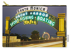 Santa Monica Pier Sign Santa Monica Ca Carry-all Pouch by Panoramic Images