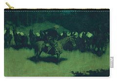 Scare In A Pack Train Carry-all Pouch by Frederic Remington