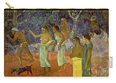 Scene From Tahitian Life Carry-all Pouch by Paul Gauguin