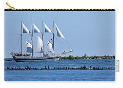 Schooner On Lake Michigan No. 1 Carry-all Pouch by Sandy Taylor