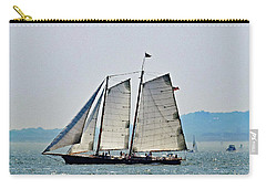 Schooner On New York Harbor No. 3 Carry-all Pouch by Sandy Taylor