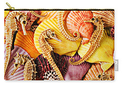 Sea Horses And Sea Shells Carry-all Pouch by Garry Gay