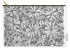 Sea Of Flowers And Seeds At Night Horizontal Carry-all Pouch by Tamara Kulish
