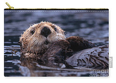 Sea Otter Carry-all Pouch by Yva Momatiuk and John Eastcott and Photo Researchers