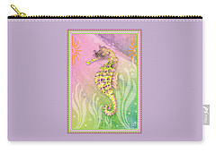 Seahorse Violet Carry-all Pouch by Amy Kirkpatrick