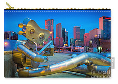 Seated Traveling Man Carry-all Pouch by Inge Johnsson