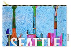 Seattle Music Scene Carry-all Pouch by Edward Fielding