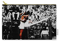 Serena Williams And Angelique Kerber Carry-all Pouch by Brian Reaves