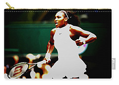 Serena Williams Making History Carry-all Pouch by Brian Reaves