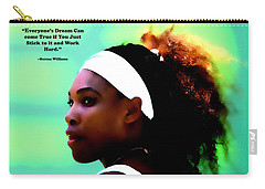 Serena Williams Motivational Quote 1a Carry-all Pouch by Brian Reaves