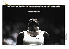 Serena Williams Quote 2a Carry-all Pouch by Brian Reaves