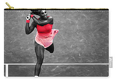 Serena Williams Strong Return Carry-all Pouch by Brian Reaves