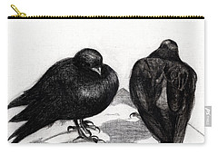 Serious Pigeon Situation Carry-all Pouch by Nancy Moniz