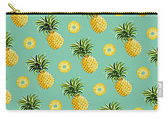 Set Of Pineapples Carry-all Pouch by Vitor Costa
