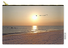 Shackleford Banks Sunset Carry-all Pouch by Betsy Knapp