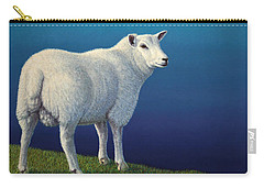 Sheep At The Edge Carry-all Pouch by James W Johnson