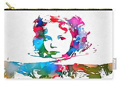 Shirley Temple Watercolor Paint Splatter Carry-all Pouch by Dan Sproul