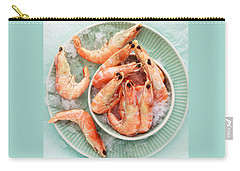 Shrimp On A Plate Carry-all Pouch by Anfisa Kameneva