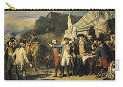 Siege Of Yorktown Carry-all Pouch by Louis Charles Auguste  Couder