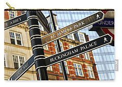 Signpost In London Carry-all Pouch by Elena Elisseeva