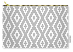 Silver Pattern Carry-all Pouch by Christina Rollo