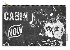Singing Owl Cabin Rustic Sign Carry-all Pouch by Mindy Sommers