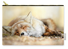 Sleeping Beauty -red Fox In Rest Carry-all Pouch by Roeselien Raimond