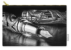 Snake Pen In Black And White Carry-all Pouch by Tom Mc Nemar