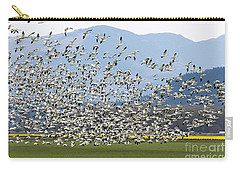 Snow Geese Exodus Carry-all Pouch by Mike Dawson