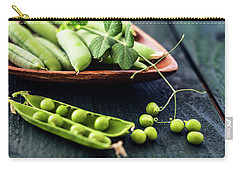 Snow Peas Or Green Peas Still Life Carry-all Pouch by Vishwanath Bhat