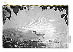 Snowy Egret Carry-all Pouch by Sandy Taylor