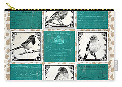 Songbird Cheetah Patch Carry-all Pouch by Debbie DeWitt