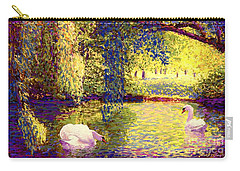 Swans, Soul Mates Carry-all Pouch by Jane Small