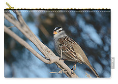 Sparrow Time Carry-all Pouch by Fraida Gutovich