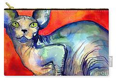 Sphynx Cat 6 Painting Carry-all Pouch by Svetlana Novikova
