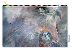 Spirit Of The Hawk Carry-all Pouch by Carol Cavalaris