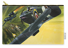 Spitfire And Doodle Bug Carry-all Pouch by Wilf Hardy
