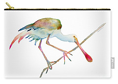 Spoonbill  Carry-all Pouch by Amy Kirkpatrick