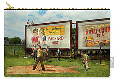 Sport - Baseball - America's Past Time 1943 Carry-all Pouch by Mike Savad